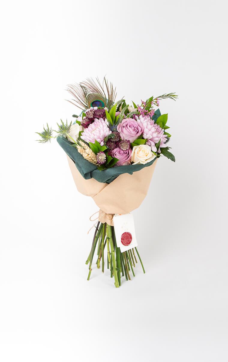 Maia Pembe Krizantem Gül Buketi çiçek Bloom And Fresh